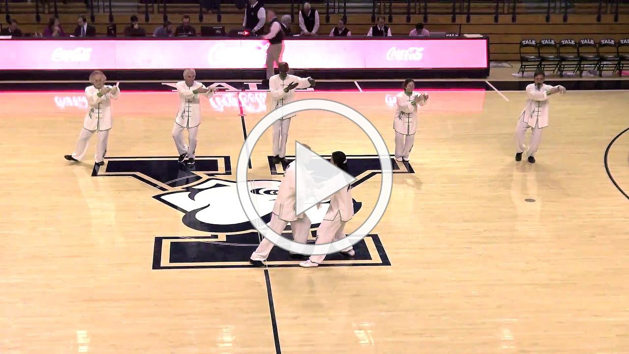 Aiping Tai Chi Center Performing Yale Basketball Halftime