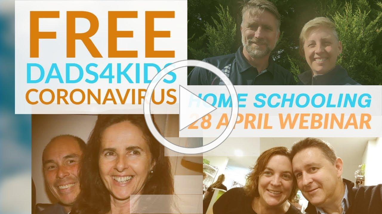 FREE Dads4Kids Coronavirus Home Schooling Webinar
