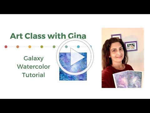 Gina's Art Class: Galaxy Watercolor Tutorial