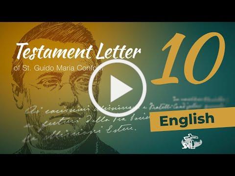 Episode 10: Testament Letter of St Guido Maria Conforti