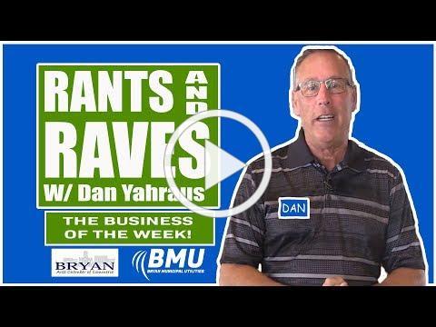 Rants and Raves W/ Dan Yahraus - Eric's Ice Cream - 07/09/2019