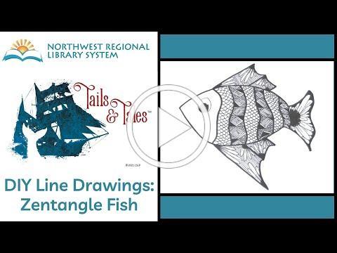 DIY Line Drawings: Zentangle Fish