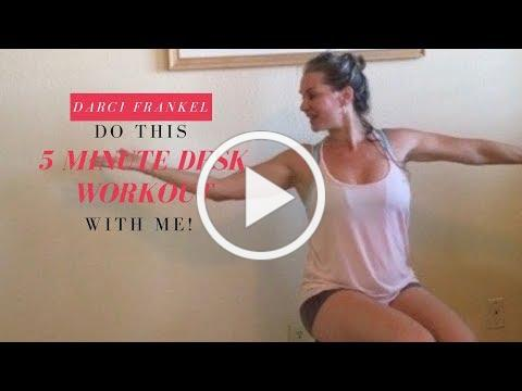 Do this 5 minute Desk workout with me!