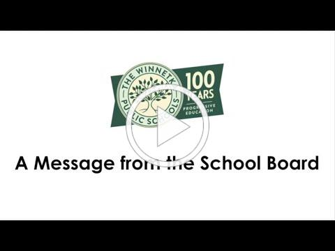 A Message from the School Board - June 2020