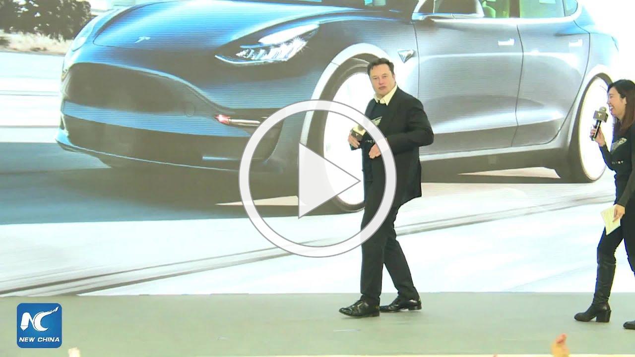 Elon Musk pulls off dance moves at Tesla's Shanghai plant