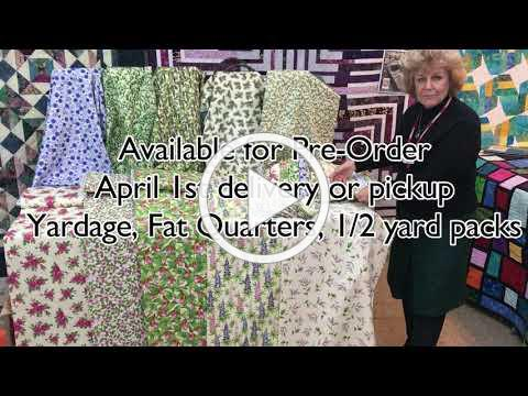 Wildflowers of Maine - Exclusive fabrics for Maine Quilt Shop Hop