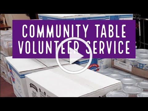 Update: Community Table Volunteer Service