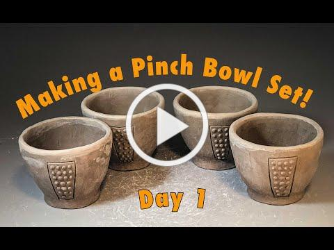 Part 1 - Efficiency in Making a Matching Pinch Bowl Set - Day 35 Quarantine Distraction Video