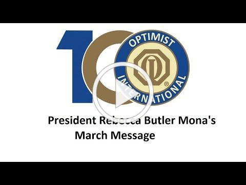 President Rebecca Butler Mona's Message for March