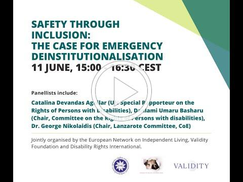 Safety through inclusion: The case for emergency deinstitutionalisation