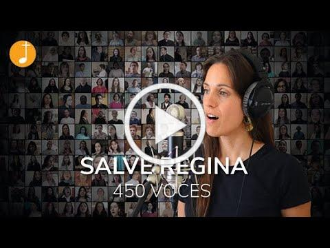 Salve Regina (tono simple) | 450 voces - coro virtual | Música Católica