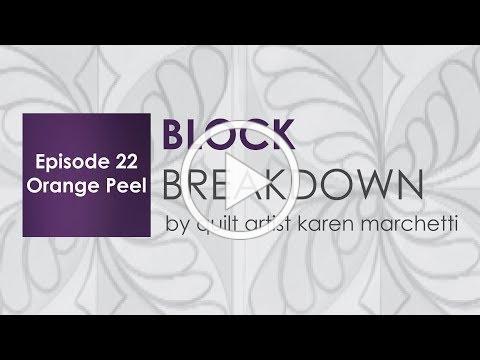 Block Breakdown Orange Peel