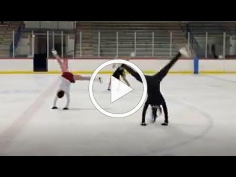 Ann Arbor FSC Adult Skaters doing Cartwheels on the Ice!!