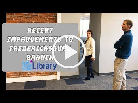 Major renovation to 3rd floor of Fredericksburg library building