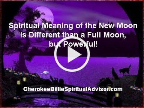 Spiritual Meaning of the New Moon Is Different than a Full Moon,
