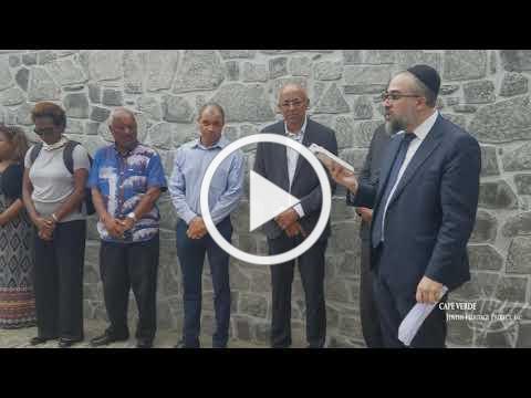 Rabbi Natan Peres at the re-dedication of the Penha de França Jewish cemetery, 6 November 2018