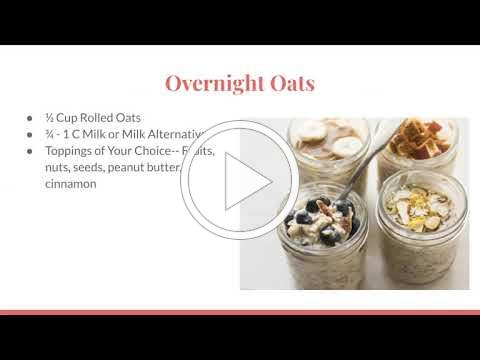 January Healthy Breakfast Ideas- Hannah Kose