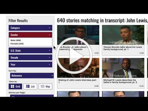 The HistoryMakers Digital Archive: Search