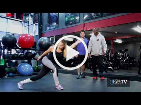 Core strength moves w Eufay Wood at Tahoe Club 100 Training Center