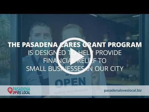 Pasadena Cares Grant Program Promo