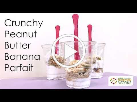 Crunchy Peanut Butter Banana Parfait
