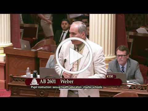Senator Jeff Stone's Floor Speech Opposing AB 2601