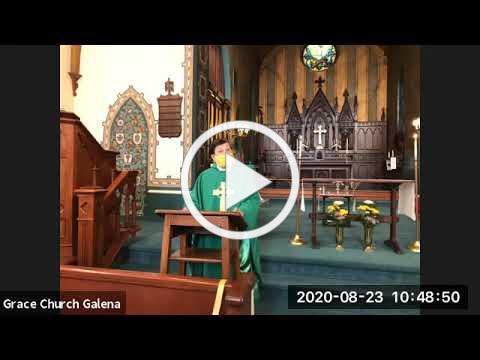 Grace Episcopal Church, Galena IL, August 23, 2020