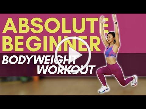 Absolute Beginner Bodyweight Workout (No Weights, No Jumping) | Joanna Soh