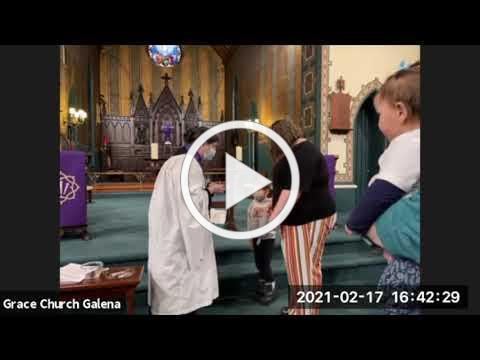 Grace Episcopal Church, Galena IL, Ash Wednesday PM 2021