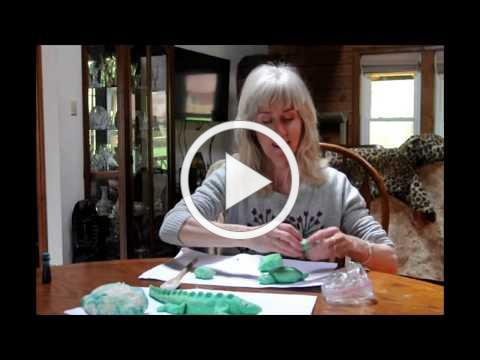 How to make an Alligator using Play Dough