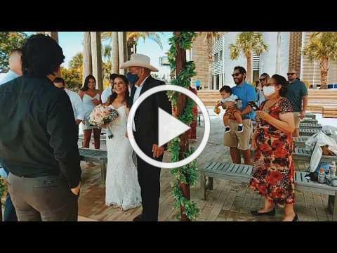 Mini Wedding Ceremony at Sea Star Base Galveston