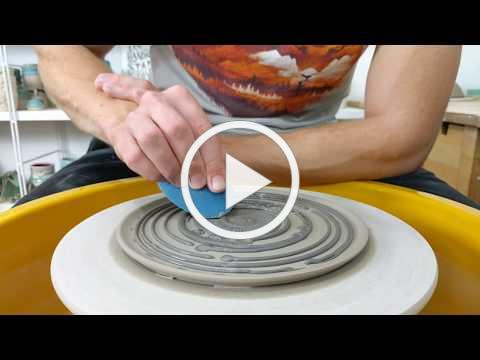 Satisfying Pottery - Real Time Throwing - Nautilus Plate