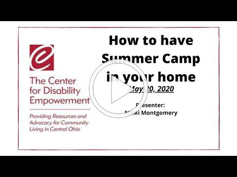 How to have Summer Camp in your Home