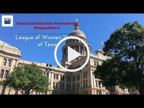 Proposition 4, Texas Constitution Amendment Nov. 7th Election