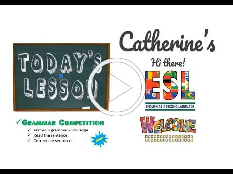 Catherine: Grammar Competition