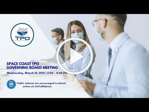 March 10, 2021 - SCTPO Governing Board Meeting