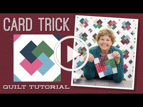 "Make a ""Card Trick"" Quilt with Jenny!"