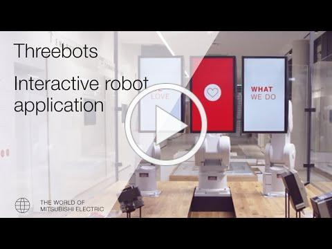"""Threebots"" - Mitsubishi Electric´s interactive robot application!"
