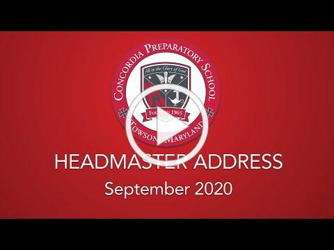 Fall 2020 Message from Headmaster Brent Johnson