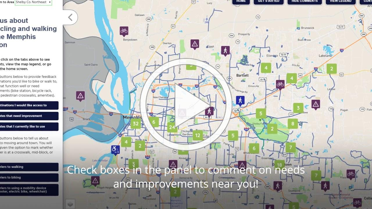 Walk and Roll Interactive Map