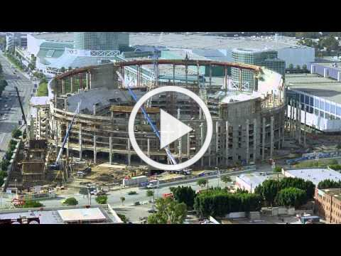STAPLES Center Construction Timelapse