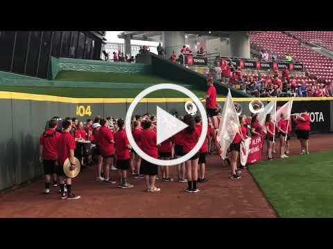 Eagles Perform at Reds Game
