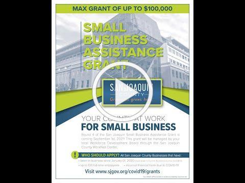 SJC Round 4 Small Business Assistance Grant Walkthrough