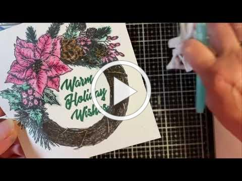 Wreath Wishes Watercolor Card Kit