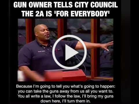 Black Gun Owner Shock Local Council