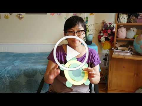 (Cantonese) 做手工: 小乌龟 Craft: baby Turtle.