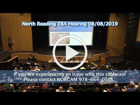 North Reading Zoning Board of Appeals Public Hearing 8/8/19