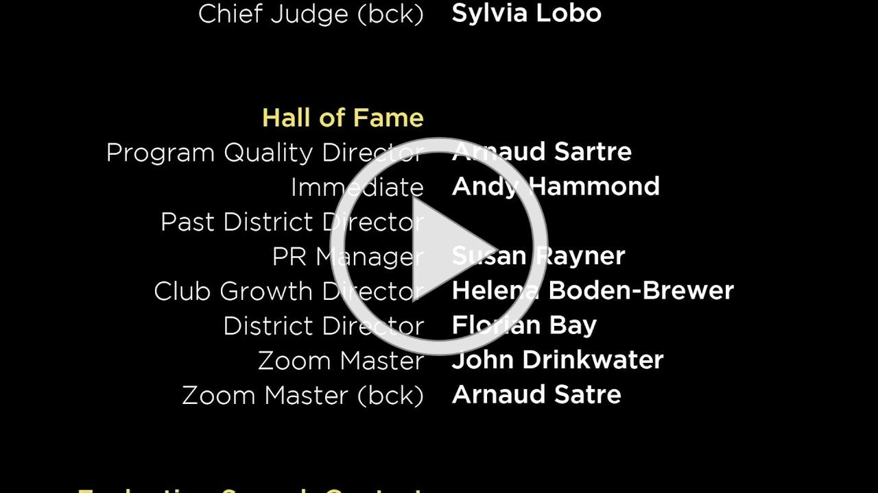 D91 Conference End Credits plus music