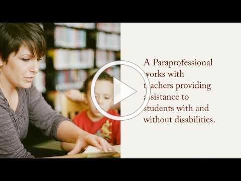 Paraprofessional Skills Preparation Program Video