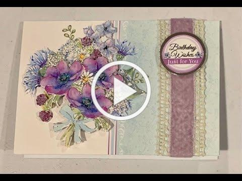 Live Stream Hunkydory Flourishing Florals All Occasion Cards Class -- Makes 6 Cards